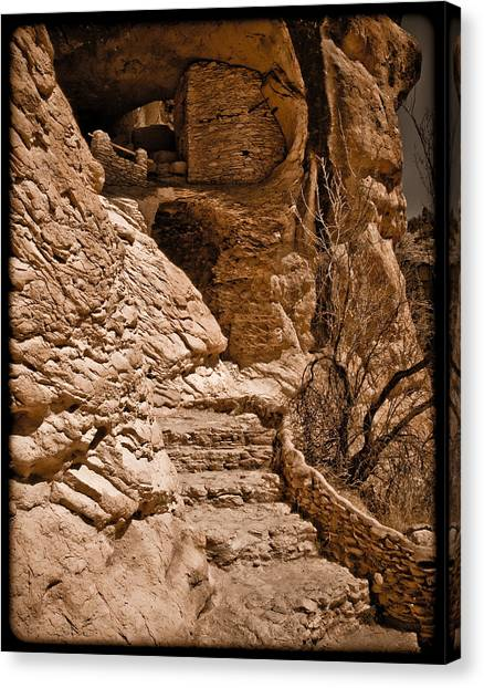 Stone Stairway Canvas Print