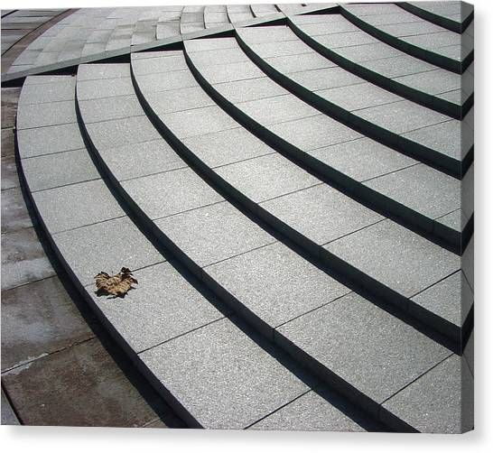 Stone Steps_pyeongchon Park_anyang_south Korea Canvas Print by Jon William Lopez