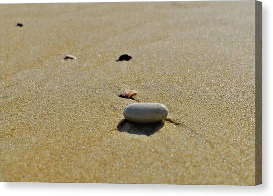 Stones In The Sand Canvas Print