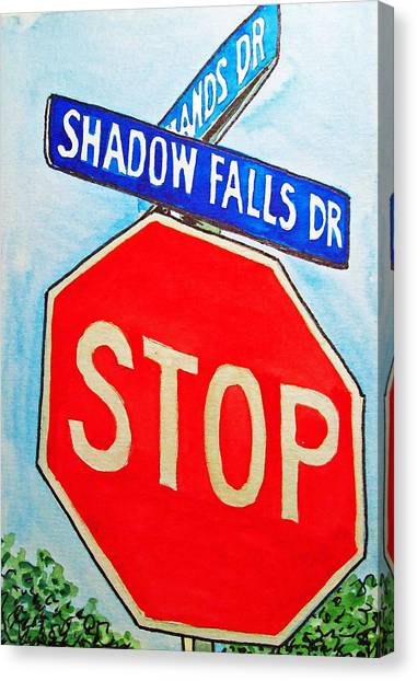 Stop Sign Canvas Print - Stop Sign Sketchbook Project Down My Street by Irina Sztukowski