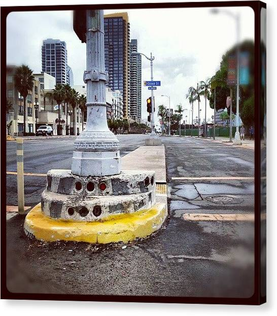Stoplights Canvas Print - #stoplights #sandiego  #myphotography by Raphael Antonio