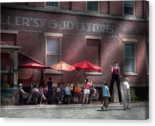 Grocery Store Canvas Print - Storefront - Bastile Day In Frenchtown by Mike Savad
