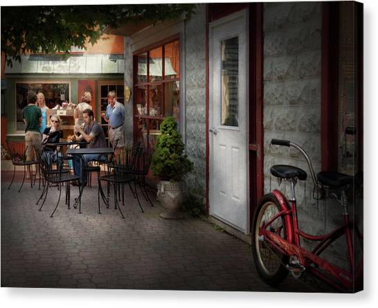 Grocery Store Canvas Print - Storefront - Frenchtown Nj - At A Quaint Bistro  by Mike Savad