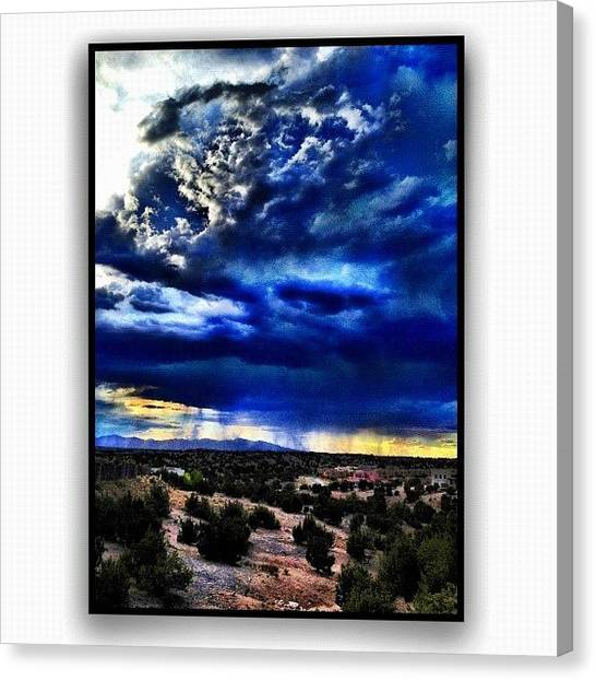 Storms Canvas Print - Storm A'comin by Paul Cutright
