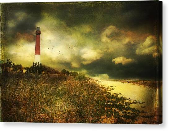 Storm At Barnegat Lighthouse Canvas Print