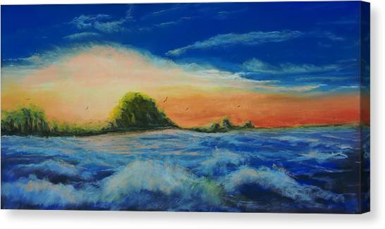 Storm At Low Sun Canvas Print by Peter Jackson