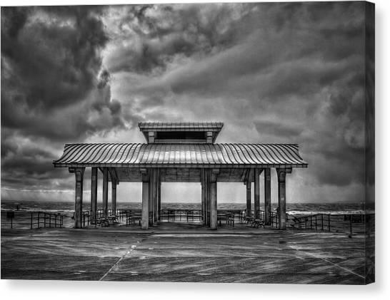 Sandy Beach Canvas Print - Storm Before The Calm by Evelina Kremsdorf