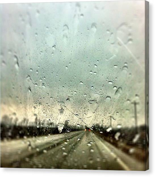 Drops Canvas Print - Storm by Cassie OToole