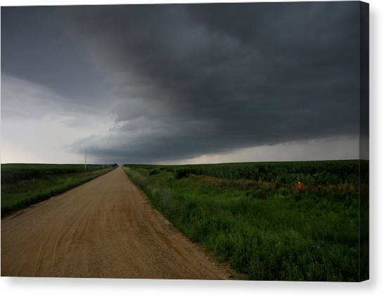Hailstorms Canvas Print - Storm Cloud by Rick Rauzi