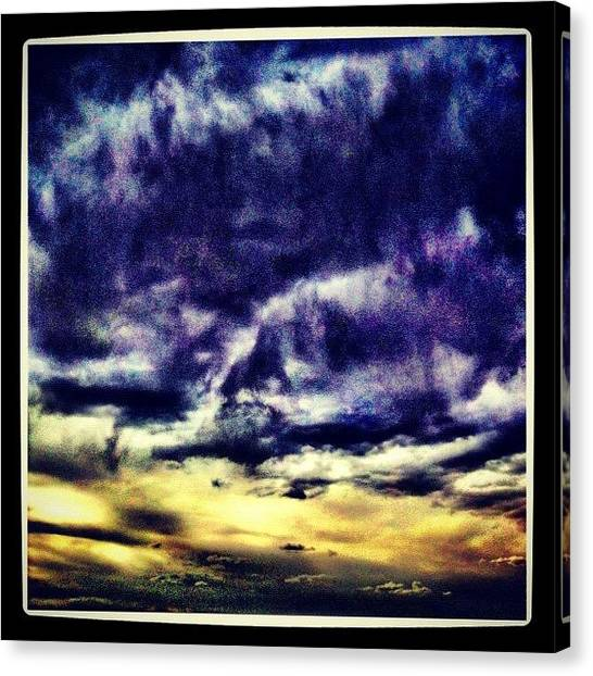 Storms Canvas Print - Storm Clouds Brewing by Paul Cutright