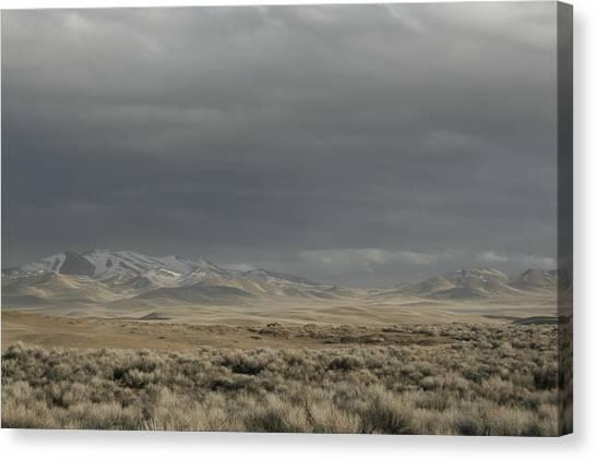 Storm In Dunes Canvas Print
