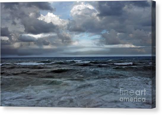 Storm Off Coral Cove Beach Canvas Print by Richard Nickson