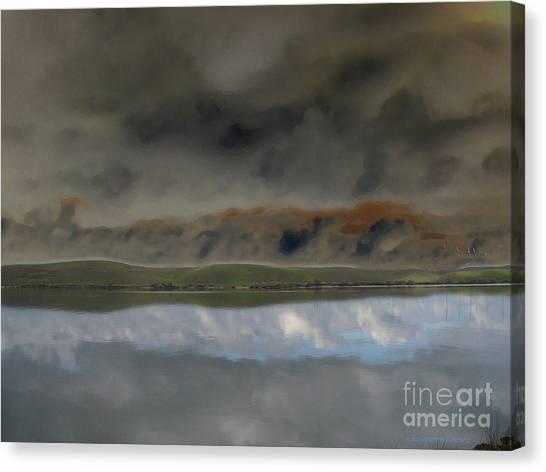 Storm On Land Canvas Print
