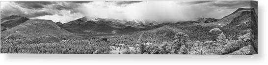 Storm On The Rockies Canvas Print by G Wigler