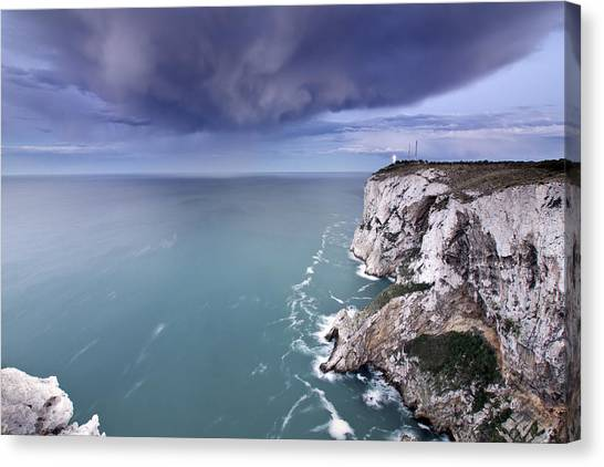 Storm Over Sea Canvas Print by Paco Costa
