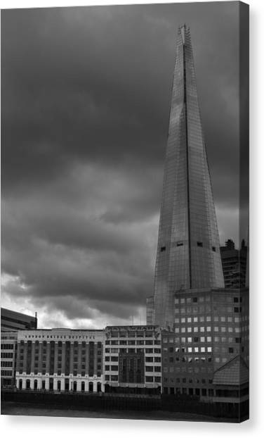 Storm Over The Shard Canvas Print by Kevin Bates