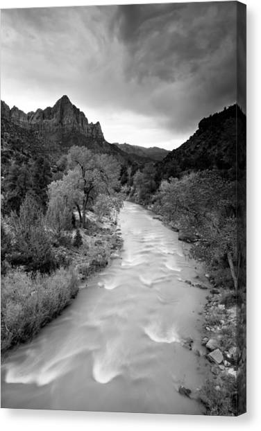 Storm Over The Watchman Canvas Print
