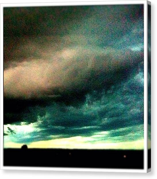 Lightning Canvas Print - Storm Rolling In Over Camden #storm by Luke Fuda