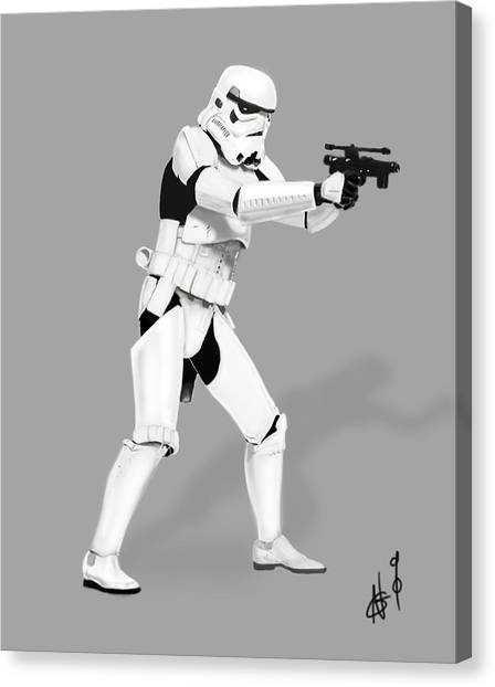 New York Red Bulls Canvas Print - Storm Trooper Digital Drawing by Nicholas  Grunas