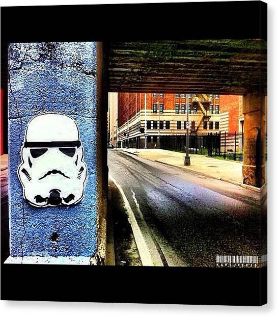 Stormtrooper Canvas Print - Storm Troopers In The D #graffiti by Anthony  Bates