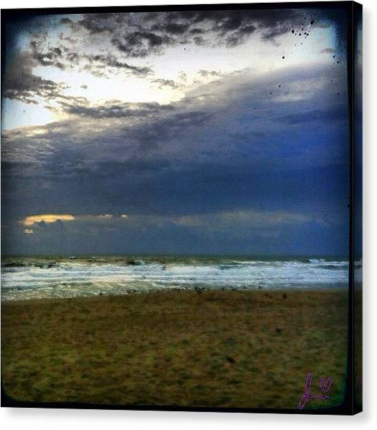 Beach Sunrises Canvas Print - Storms A Brewin #beach #florida #summer by Jenni Pixl