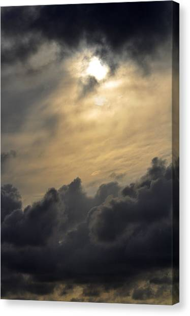 Stormy Skies Canvas Print by Sarah McKoy