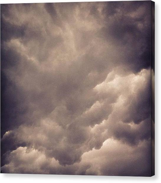 Storms Canvas Print - Stormy Weather by Cameron Bentley