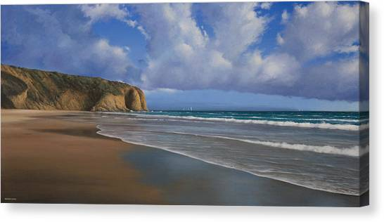 Strands Beach Dana Point Painting Canvas Print