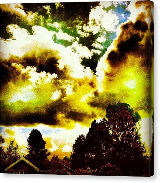 Back Canvas Print - Strange Weather That Day..!! #weather by Ole Back
