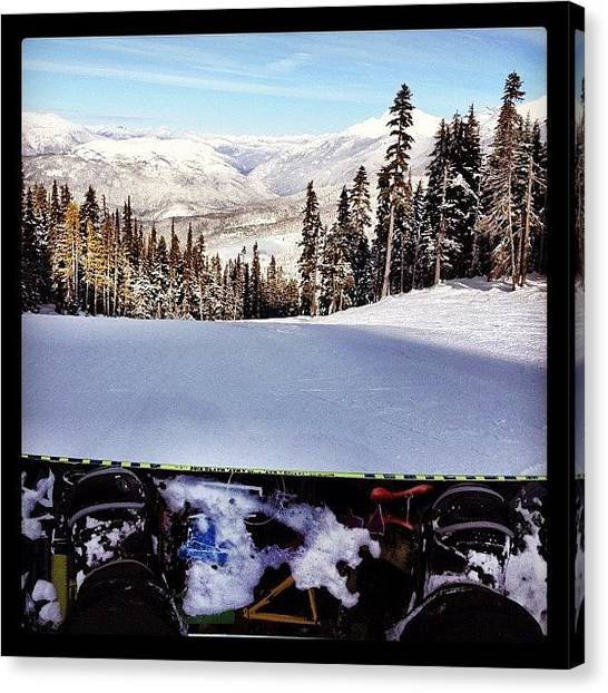 Snowboarding Canvas Print - Strap It Up #hefe #ig #instagram by Brandon Erickson