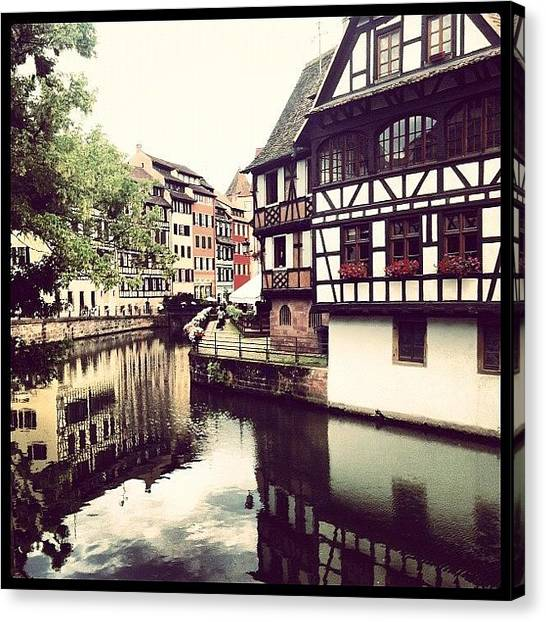 Medieval Canvas Print - Strasbourg by Marce HH