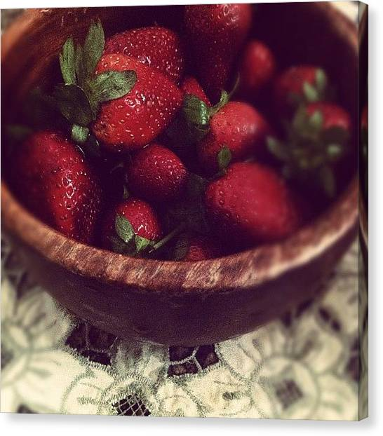 Largemouth Bass Canvas Print - Strawberries Friday <3 #strawberry by Naj Bass