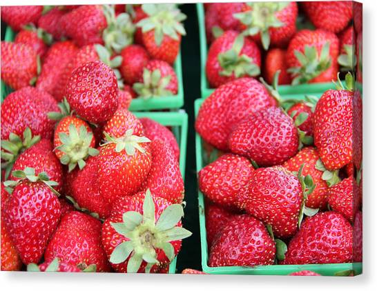 Strawberries Canvas Print by Kim French