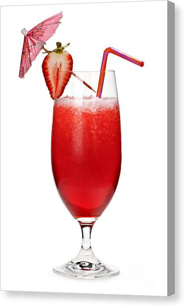 Rum Canvas Print - Strawberry Daiquiri by Elena Elisseeva
