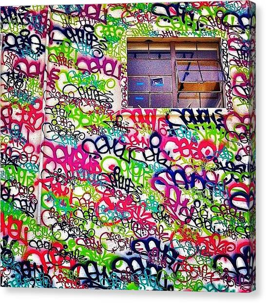 Colorful Canvas Print - Street Art by Julie Gebhardt