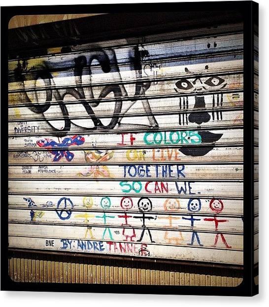 Graffiti Canvas Print - Street Art by Natasha Marco