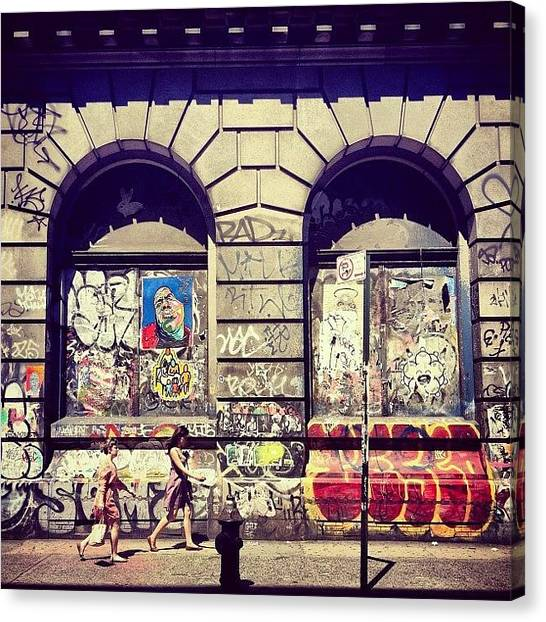 Cool Canvas Print - Street Art On The Bowery - New York City by Vivienne Gucwa