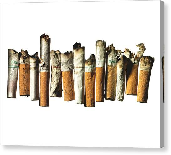 Cigarette Canvas Print - Street Finds 1 by Michael Kraus