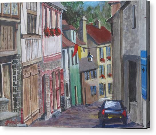 Street In Dinan Canvas Print