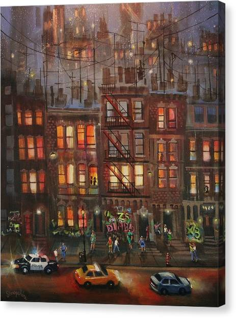 Chicago Fire Canvas Print - Street Life by Tom Shropshire
