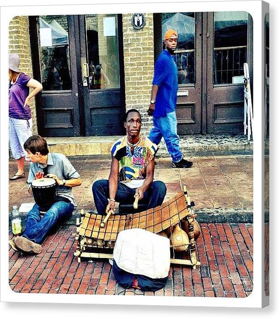 Austin Canvas Print - Street Music by Natasha Marco