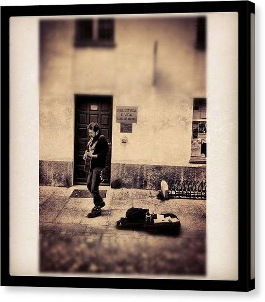 Celebrities Canvas Print - Street Musician by Paul Cutright
