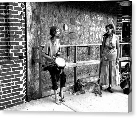 Sun Belt Canvas Print - Street Musicians by Elizabeth Coats