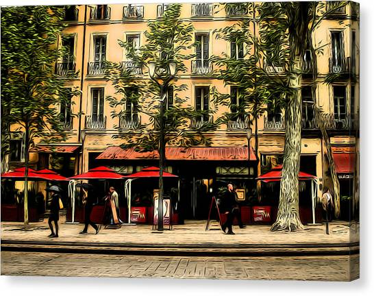 Street Scene Canvas Print by Jim Painter
