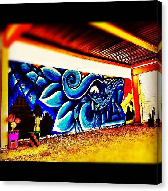 Dragons Canvas Print - #streetart #graffiti #phxstreetart by CactusPete AZ