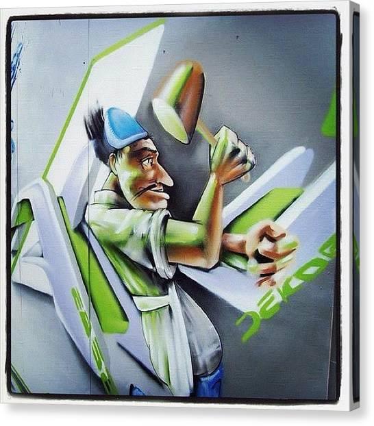 Hammers Canvas Print - #streetarteverywhere #canart #spraycan by Nigel Brown