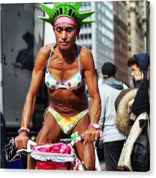 Bikini Canvas Print - #streetlife #streettogs #streetphoto by Roman Kruglov