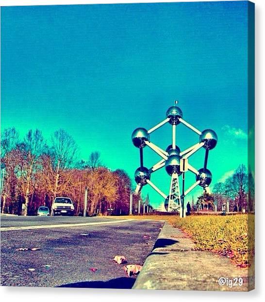 Porsche Canvas Print - #streetphoto #streetstyles_gf #brussels by Gennadiy S