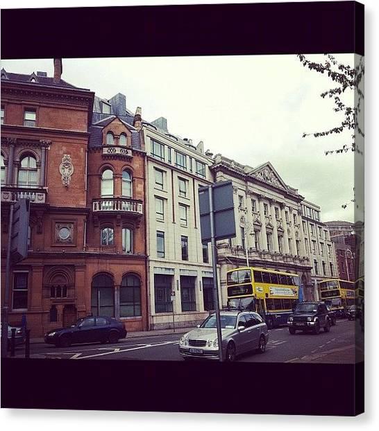 European Canvas Print - Streets Of Dublin 2 by Emily Alvarez