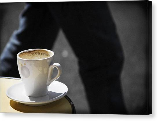 Streetside Cafe Canvas Print